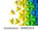 Origami Tetrahedrons Backgroun...