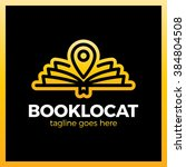 open line book location pin... | Shutterstock .eps vector #384804508