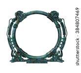 futuristic portal | Shutterstock . vector #384807469
