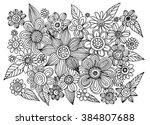 flowers doodle vector | Shutterstock .eps vector #384807688