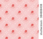 cute pastry seamless pattern | Shutterstock .eps vector #384808438
