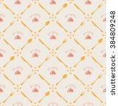 bon appetite seamless pattern  | Shutterstock .eps vector #384809248