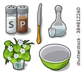 Set Of Cooking Utensils And...