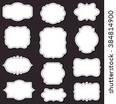 vector decorative frames set ... | Shutterstock .eps vector #384814900