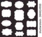 vector decorative frames set ... | Shutterstock .eps vector #384814900