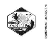 activities extreme outdoor logo.... | Shutterstock .eps vector #384822778