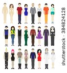 different people  vector set. | Shutterstock .eps vector #384824128