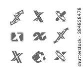 vector abstract logo x design...   Shutterstock .eps vector #384828478