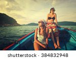 Two Young Woman Traveling By...