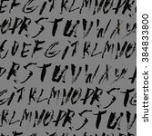 alphabet seamless pattern.... | Shutterstock .eps vector #384833800