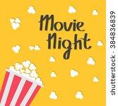 popcorn bag. cinema icon in...   Shutterstock .eps vector #384836839