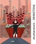 illustration of carbon credit... | Shutterstock .eps vector #384837046