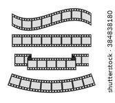 film strip frame set. different ... | Shutterstock .eps vector #384838180