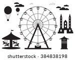 amusement park element with... | Shutterstock . vector #384838198