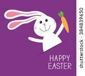 happy easter. bunny rabbit hare