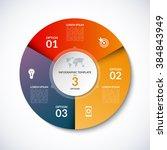 vector infographic circle... | Shutterstock .eps vector #384843949