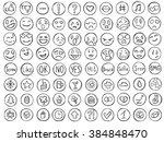 emoticons doodle set. emoji...   Shutterstock .eps vector #384848470