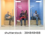 group of young business people... | Shutterstock . vector #384848488