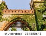part of the vajdahunyad castle  ... | Shutterstock . vector #384850648