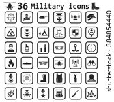 military icon set icon | Shutterstock .eps vector #384854440