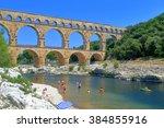 Ancient Arches Of Pont Du Gard...