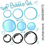 soap bubbles vector set.... | Shutterstock .eps vector #384858973