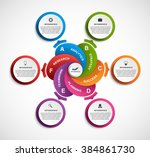 abstract options infographics... | Shutterstock .eps vector #384861730
