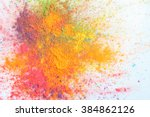 celebrate festival holi. indian ... | Shutterstock . vector #384862126