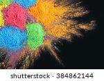 celebrate festival holi. indian ... | Shutterstock . vector #384862144