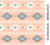 light pink navajo ethnic... | Shutterstock .eps vector #384862414