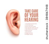 take care of your hearing.... | Shutterstock .eps vector #384867448