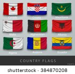 wave country flag with shadows... | Shutterstock .eps vector #384870208
