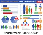 collection of infographic... | Shutterstock .eps vector #384870934