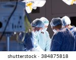 surgery  medicine and people... | Shutterstock . vector #384875818