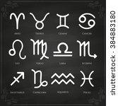 zodiac symbol icons on... | Shutterstock . vector #384883180