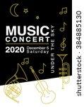 design elements for music... | Shutterstock .eps vector #384885130