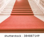 red carpet on a stairway used... | Shutterstock . vector #384887149