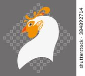 rooster silhouette symbol for... | Shutterstock .eps vector #384892714