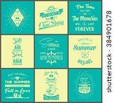 set of vintage summer... | Shutterstock .eps vector #384901678