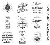 set of vintage summer... | Shutterstock .eps vector #384901693