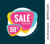 sale vector banner template  ... | Shutterstock .eps vector #384902164
