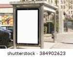 bus stop poster | Shutterstock . vector #384902623