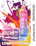 london city scape sketch with...   Shutterstock .eps vector #384904630