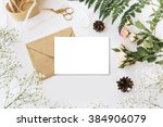 stylish branding mockup with... | Shutterstock . vector #384906079