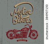 vintage trademark with... | Shutterstock .eps vector #384907150