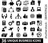 set of 36 business icons.... | Shutterstock . vector #384909616