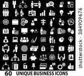 set of 60 business icons. white ... | Shutterstock . vector #384909676