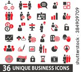 set of 36 business icons in two ... | Shutterstock . vector #384909709