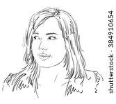 vector portrait of attractive...   Shutterstock .eps vector #384910654