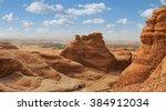 desert  landscape  mountain... | Shutterstock . vector #384912034
